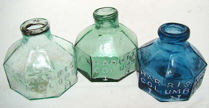 Harrison's Columbia Ink bottles; click to enlarge.