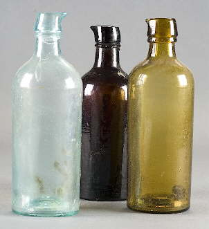 Bulk ink bottles dating from the 1860s; click to enlarge.