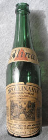 Apollinaris bottle from the 1930s; click to enlarge.