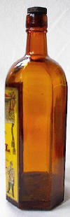 Kummel bottle side view; click to enlarge.