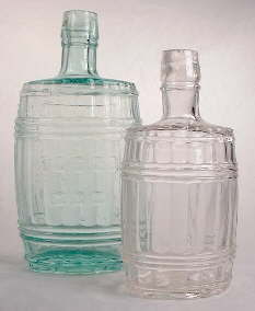 Two sizes of barrel flasks; click to enlarge.