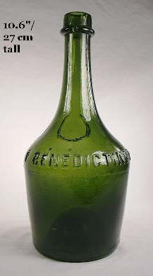 Benedictine bottle; click to enlarge.