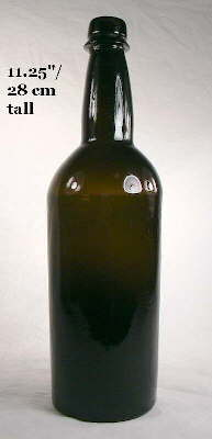 Image of a mid-19th century spirits/ale bottle; click to enlarge.