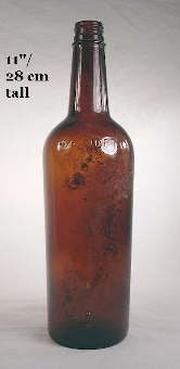 Mid 20th century liquor bottle; click to enlarge.