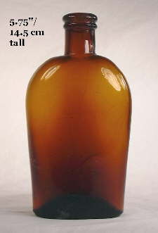 Early 1880's union oval half pint flask; click to enlarge.