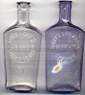 Early 20th century Olympia flasks; click to enlarge.