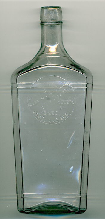 Hyperlink to an image of a pint Washington flask.