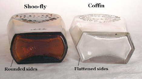 Shoo-fly and coffin flask bases; click to enlarge.