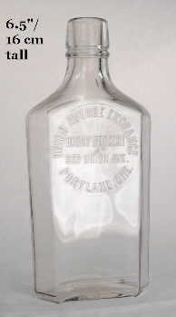 Washington style half pint flasks; click to enlarge.