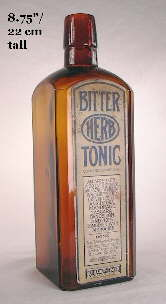 High alcohol medicinal tonic; click to enlarge.