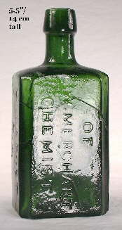 Merchant's Chemist bottle; click to enlarge.