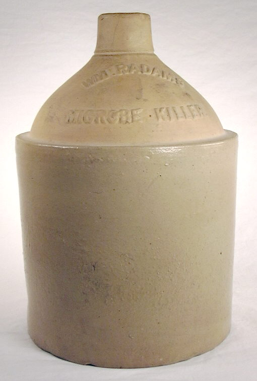 Hyperlink to an image of a Microbe Killer ceramic jug.