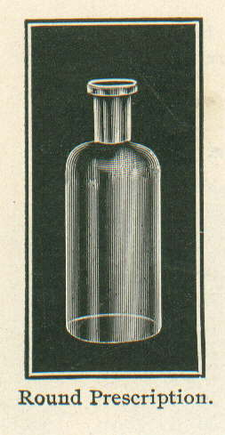 Round prescription illustration from 1903.