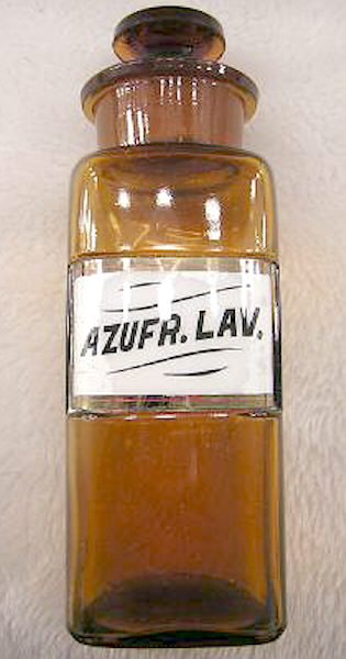Hyperlink to a label under glass saltmouth jar.