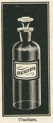 Early 20th century example of shop furniture bottles; click to view the entire glass catalog page.