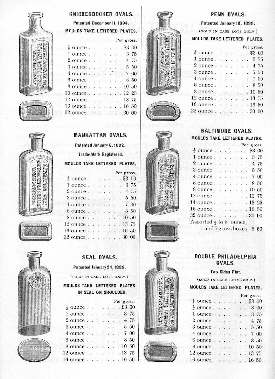 Oval druggist bottles from the 1902 W.T.Co. catalog; click to enlarge.