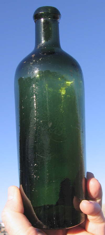 Hyperlink to an image of a machine-made Bitterquelle bottle.