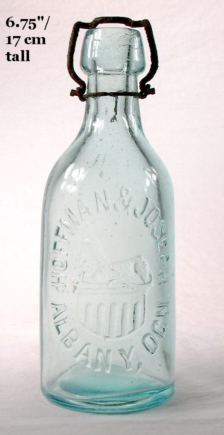 Hyperlink to an image of a Hoffman & Joseph soda bottle.