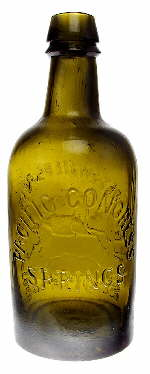 1870s Western American mineral water bottle reverse; click to enlarge.