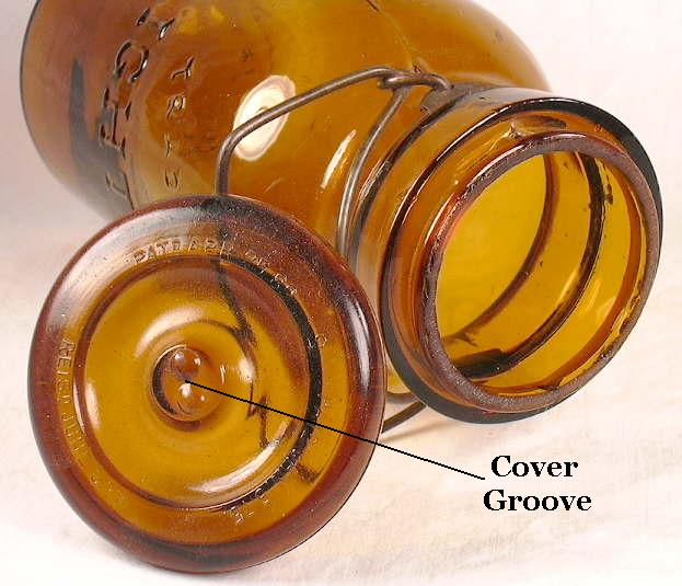 Hyperlink to an image of a cover groove on a fruit jar lid.