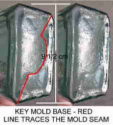 Key mold base seams; click to enlarge.