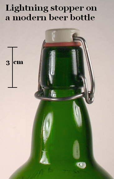 Hyperlink to a picture of a bail stopper on a modern beer bottle.