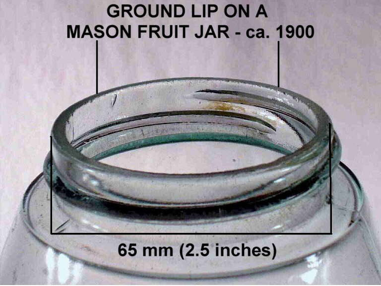 Hyperlink to a picture of a Mason fruit jar external screw thread finish.